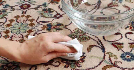 لکه هاي چربي از روي فرش, از بين بردن لکه چربي از روي فرش