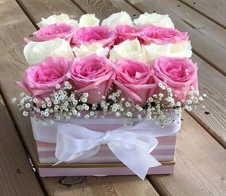 جعبه های گل رز,مدل های باکس گل رز