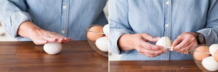 جدا کردن پوست تخم مرغ,پوست کندن تخم مرغ آبپز