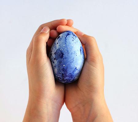 روش کار رنگ آمیزی تخم مرغ های مرمری, رنگ آمیزی تخم مرغ سفره هفت سین