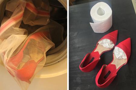نکاتی برای شستن کفش, شستشوی مرحله ای کفش