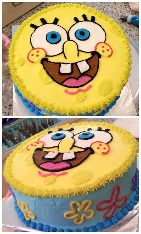 کیک تولد باب اسفنجی, مدل های کیک تولد باب اسفنجی,کیک به شکل باب اسفنجی