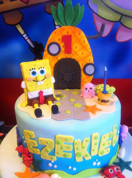 کیک تولد باب اسفنجی, مدل های کیک تولد باب اسفنجی, انواع مدل کیک باب اسفنجی