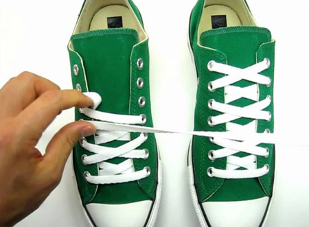 روش های بستن بند کفش, آموزش بستن بند کفش