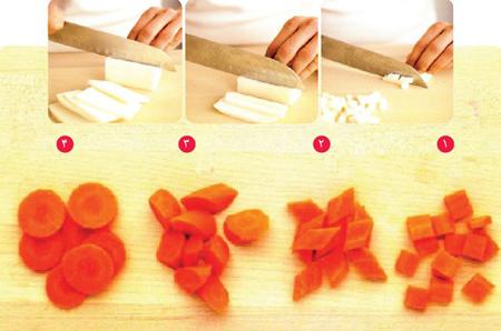برش زدن هویج, آشنایی با برش های مختلف هویج