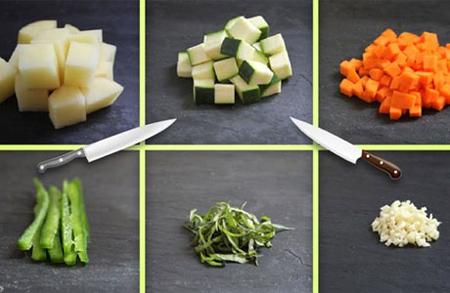 برش های مختلف هویج,برش های متفاوت هویج