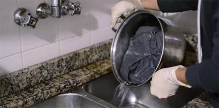 اصول رنگ کردن لباس جین, رنگ آمیزی شلوار جین