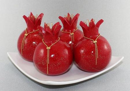 انار و هندوانه های نمدی,نحوه ساخت میوه های نمدی