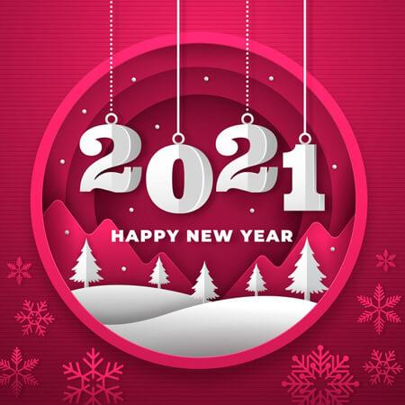 پوسترهای تبریک سال 2021, کارت تبریک  سال 2021