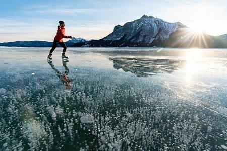 دریاچه آبراهام, دریاچه ی آبراهام در کانادا, دریاچه یخ زده آبراهام
