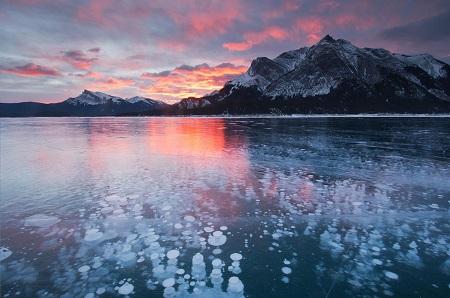 دریاچه ی آبراهام در کانادا, دریاچه یخ زده آبراهام, دریاچه آبراهام کجاست