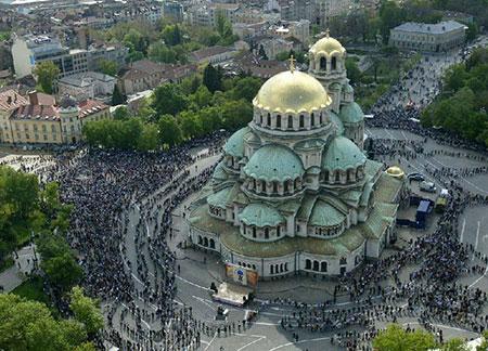 کلیسای الکساندر نوسکی,جاذبه های گردشگری بلغارستان,عکس های کلیسای الکساندر نوسکی