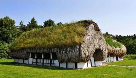 خانه های جلبکی,مکانهای دیدنی دانمارک, خانه هایی از جنس جلبک