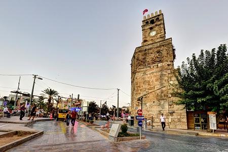 عکس برج ساعت آنتالیا, آثار تاریخی مختلف آنتالیا, مکانهای گردشگری آنتالیا