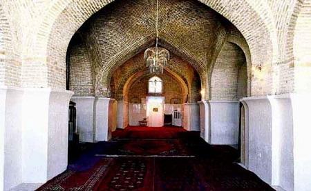 مسجد جامع بروجرد،عکس مسجد جامع بروجرد,شبستان مسجد جامع بروجرد