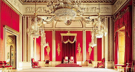 کاخ باکینگهام,عکس کاخ باکینگهام,نمای داخلی کاخ باکینگهام