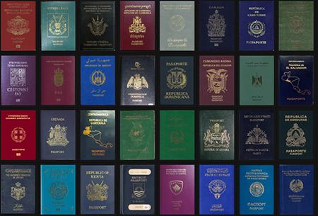رنگ پاسپورت,دلیل متفاوت بودن رنگ گذرنامه ها,تفاوت رنگ پاسپورت