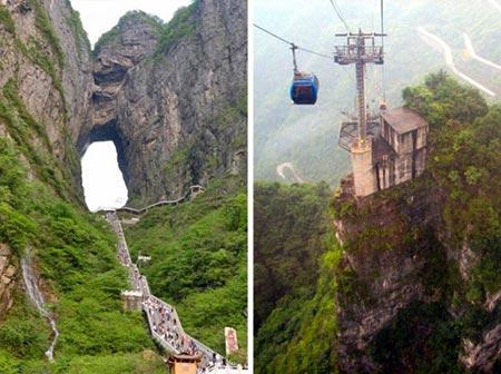 خطرناک ترین پله ها,پله های خطرناک,دروازه بهشت چین