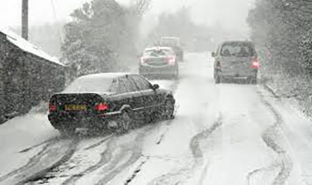 رانندگی در برف,رانندگی در زمستان,نکات مهم سفر در زمستان