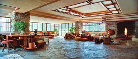 ماکت خانه آبشار,سبک معماری خانه آبشار,طراحی داخلی خانه آبشار