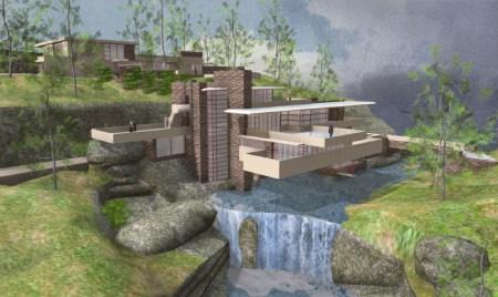 خانه آبشار,پلان خانه آبشار,خانه آبشار کافمن