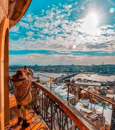 برج گالاتا در استانبول,تاریخچه برج گالاتا,عکس برج گالاتا