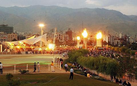 جاهای دیدنی تهران,عکس جاهای دیدنی تهران,بوستان آب و آتش