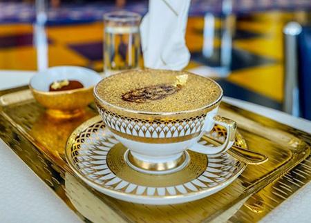 غذای لاکچری با روکش طلا,غذاهای لوکس با روکش طلا,غذاهای طلایی