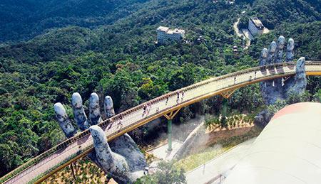 پل طلایی,پل طلایی ویتنام,عکس های پل طلایی