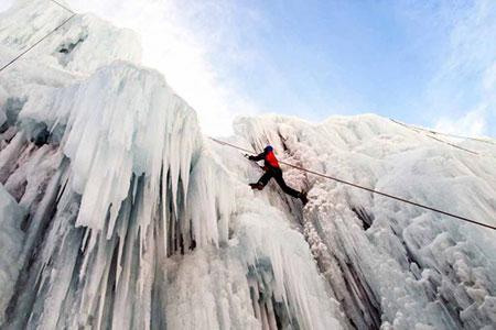 آبشار یخی هملون,آبشار یخی هملون کجاست,عکس های آبشار یخی هملون