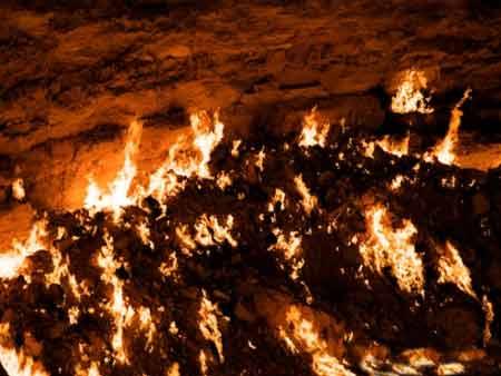 دروازه جهنم,عکس هایی از دروازه جهنم,دروازه جهنم در ترکمنستان
