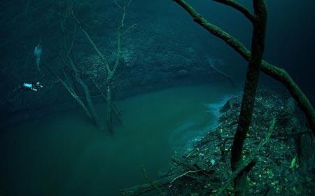 رودخانه ای در زیر آب,دیدنیهای مکزیک,مکانهای گردشگری مکزیک