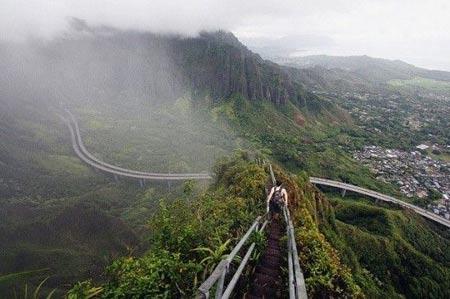 راه پله هایکو,راه پله هایکو در هاوایی,راه پله بهشتی