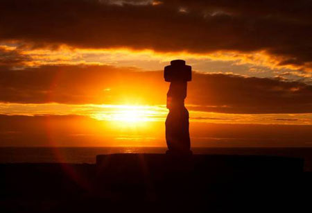 جزیره ایستر,جزیره ایستر در اقیانوس آرام,مجسمه های جزیره ایستر