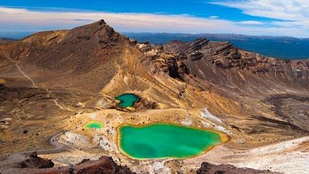 دریاچه آتشفشانی در پارک ملی تانگاریرو
