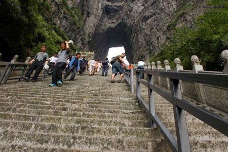 کوه Tianmen Shan,کوه دروازه بهشت در چین,مکانهای دیدنی چین