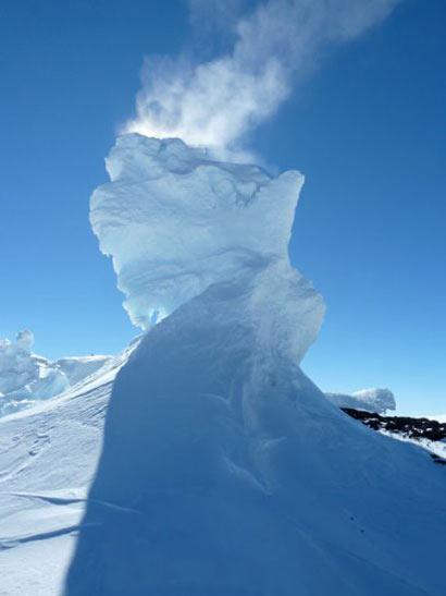 کوه آتشفشان یخی,کوه Erebus,آتشفشان های فعال
