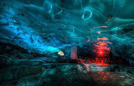 غار های یخی,غار های یخی آلاسکا,غارهای دیدنی