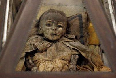 مومیایی,جنازه های مومیایی,صومعه پالرمو در ایتالیا