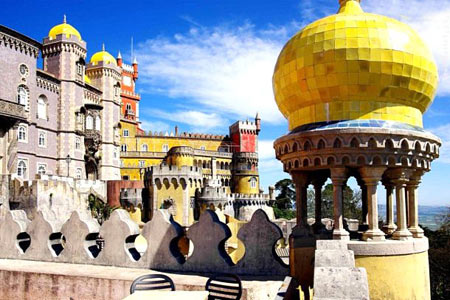 كاخ ملی پنا,تصاویر كاخ ملی پنا,كاخ ملی پنا در پرتغال