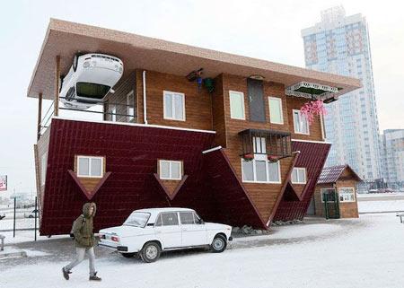 خانه وارونه در روسیه (+تصاویر)