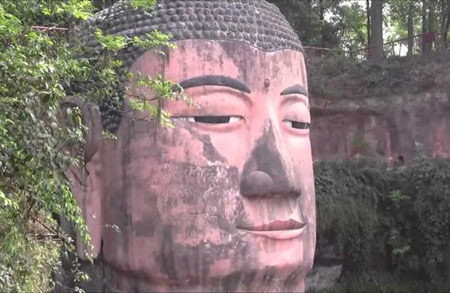 مجسمه بودای بزرگ در چین,مکانهای دیدنی چین,مجسمه بزرگ بودا درکوه داگوانگ مینگ