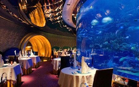 رستوران زیرآب,تصاویر رستوران های زیرآب,بهترین رستوران های زیرآب