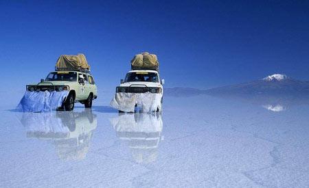 سالار دیونی مسطح ترین مکان توریستی جهان,عجایب طبیعت,سالار دیونی در کشور بولیوی