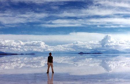 عجایب طبیعت,سالار دیونی مسطح ترین مکان توریستی جهان,سالار دیونی در کشور بولیوی