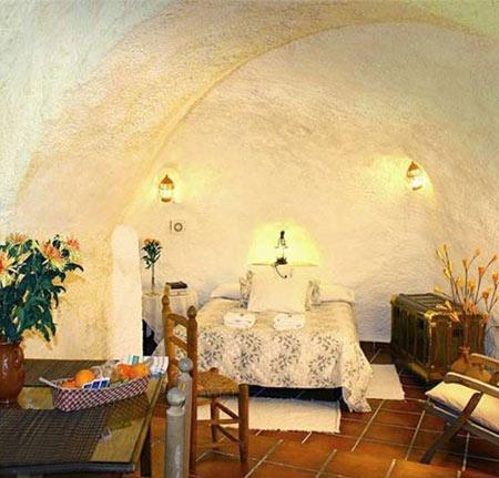 کوواس ال آبانیکو در گرانادا,هتل غاری,هتل های لوکس در طبیعت