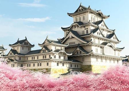 عکس های قصر هیمه جی,قصر هیمه جی در ژاپن,قصر درنای سفید
