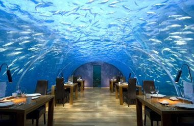 رستورانی زیر آبیِ ایتها در مالدیو (+تصاویر)