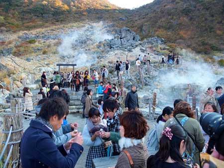 دره اواکودانی,دره Owakudani,دره ی جوشان در ژاپن