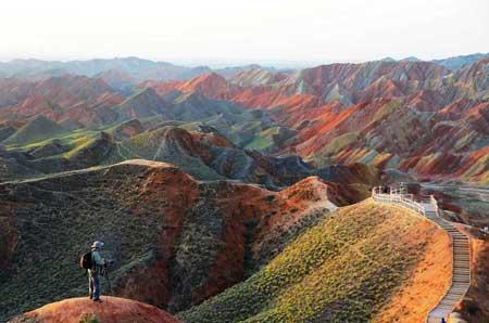 کوههای رنگی در چین, صخره های Danxia در چین,صخره های رنگی